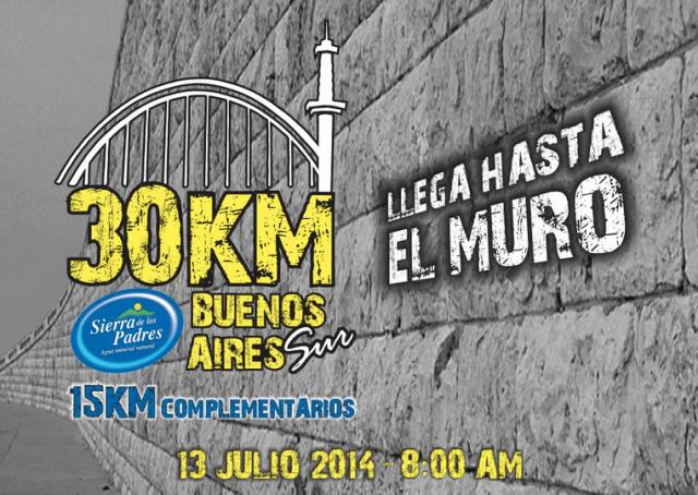 30KM Buenos Aires, el 13 de Julio  a las 8 de la mañana