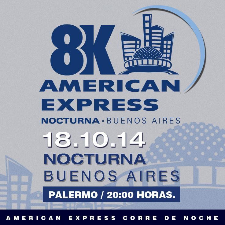 8K American Express, el 18 de Octubre