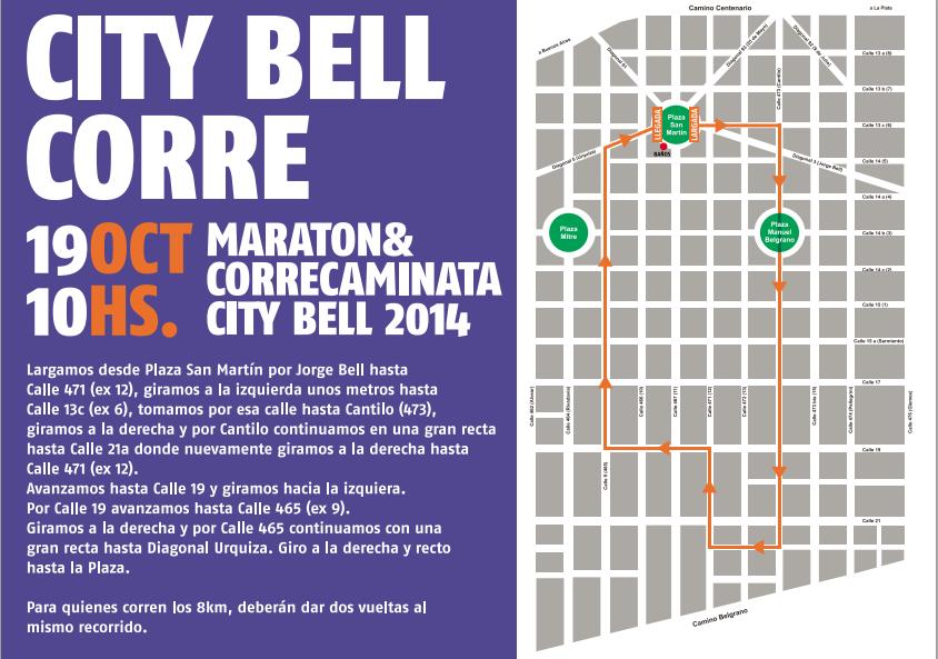 City Bell 2014 - Recorrido
