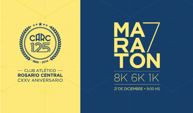Maratón 125 Aniversario de Rosario Central, el 21 de Diciembre