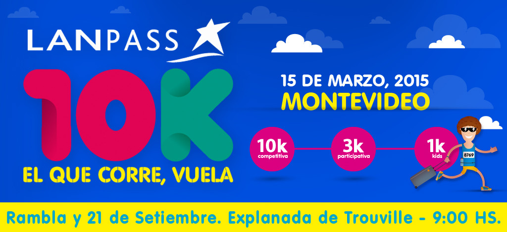 10K Lanpass en Montevideo el 15 de Marzo