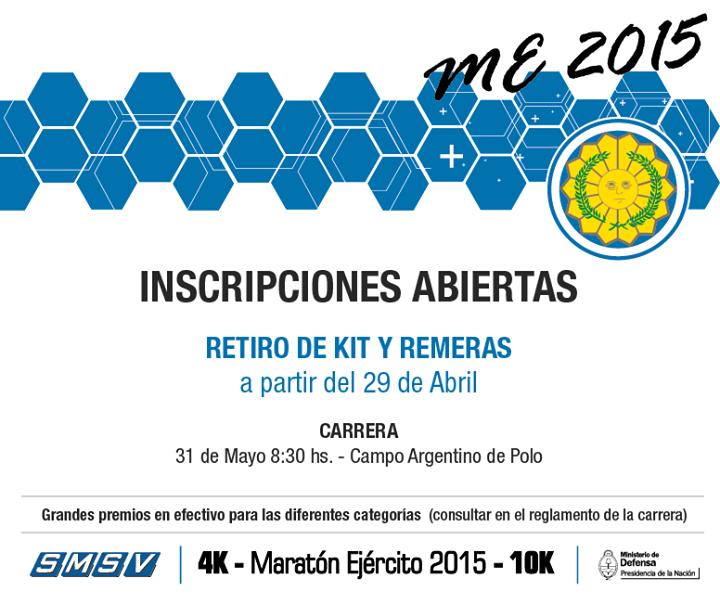 Maratón Ejercito Argentino 2015, el 31 de Mayo