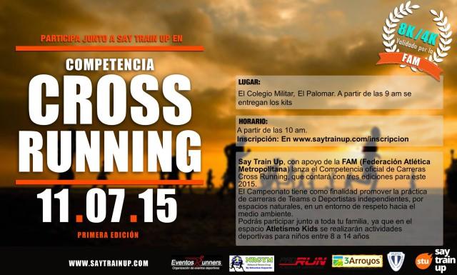 Cross Running SayTrainUp el 11 de Julio en Palomar