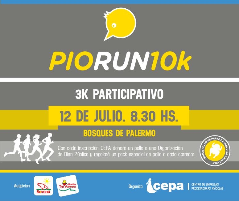 Pio Run, el 12 de Julio en Palermo