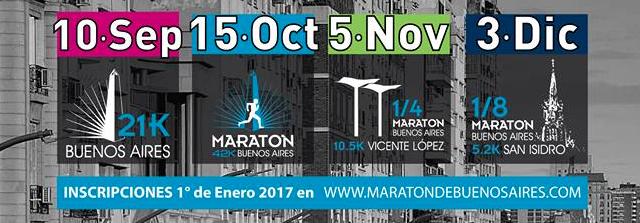 Maratón y Media Maratón de Buenos Aires 2017, inscripciones abiertas