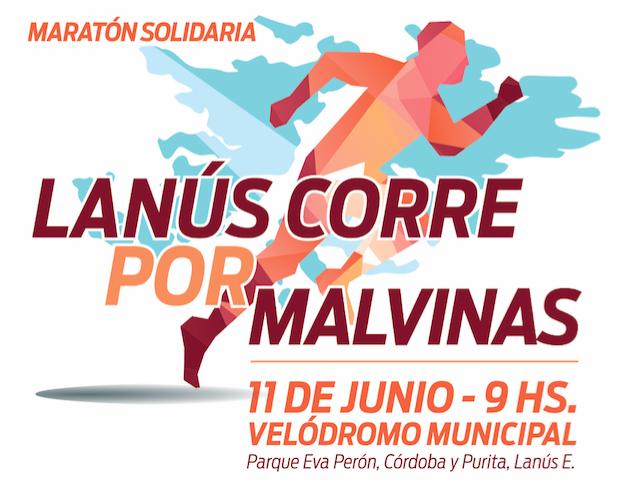Maratón Lanús Corre por Malvinas, el 11 de Junio