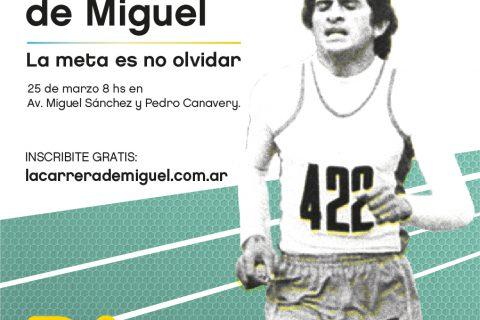 La Carrera de Miguel 2018, el 25 de Marzo en Buenos Aires