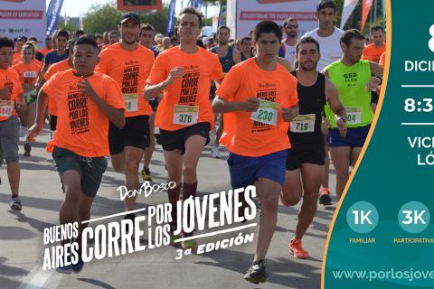 Buenos Aires Corre por lo Jóvenes 3era Edición: el 8 de Diciembre en Vicente López