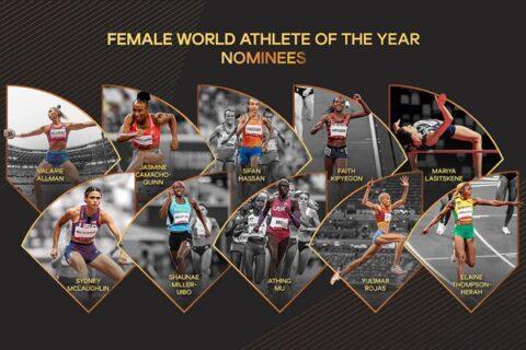 Estas son las 10 nominadas a la mejor atleta del año